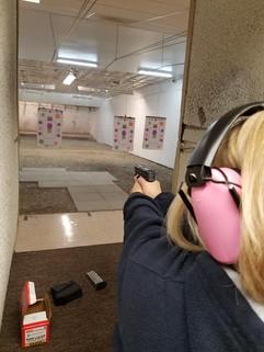 Alexa's snazzy new gun w/laser!