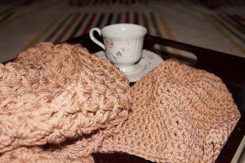 Infinity Scarf & Beanie | Brown Sugar