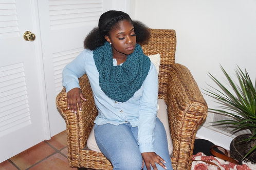 Infinity Scarf | Antique Teal
