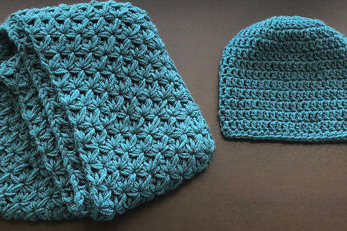 Infinity Scarf & Beanie | Antique Teal