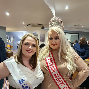 Mrs British Beauty Curve & Ms Cannock Curve 2020 attend the Pure UK Grand Final.