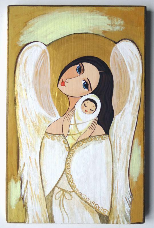 Anioł z Dzieciątkiem 1