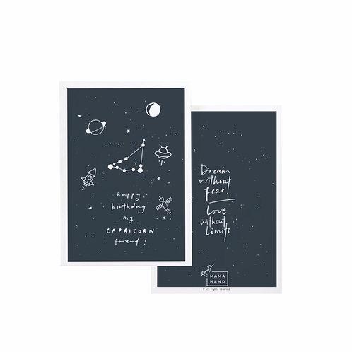 SPACE HOROSCOPE BIRTHDAY CARDS