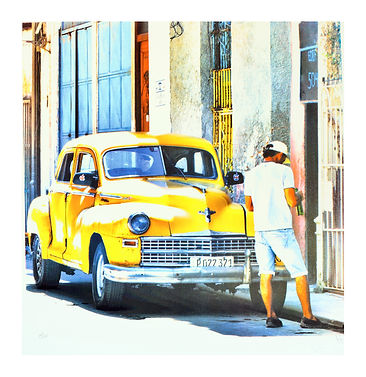 Cuban car yellow Havana.jpg