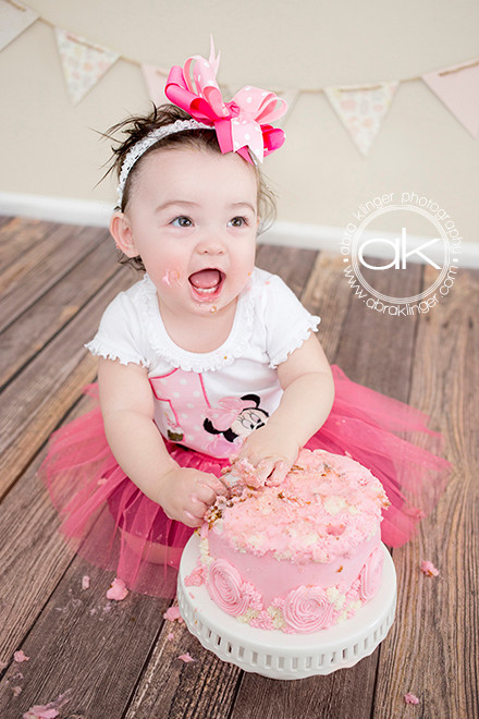 Happy girl with cake