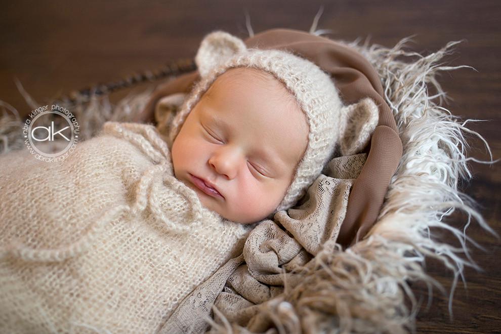 Newborn in mohair set