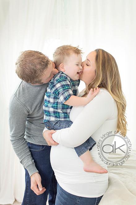 Toddler kisses