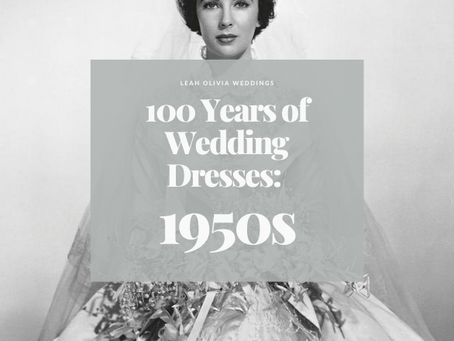 100 Years of Wedding Dresses: 1950s