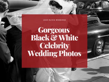Gorgeous Black & White Celebrity Wedding Photos