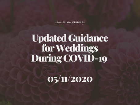 Updated Guidance for Weddings During COVID-19 05/11/2020
