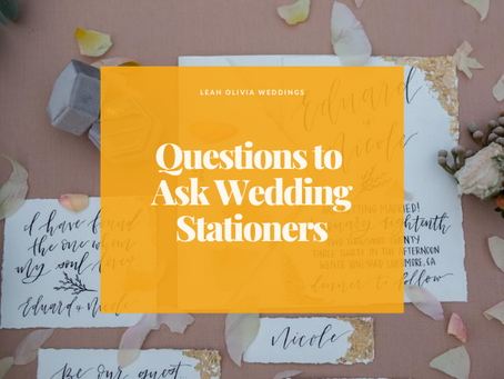 Questions to Ask Wedding Stationers