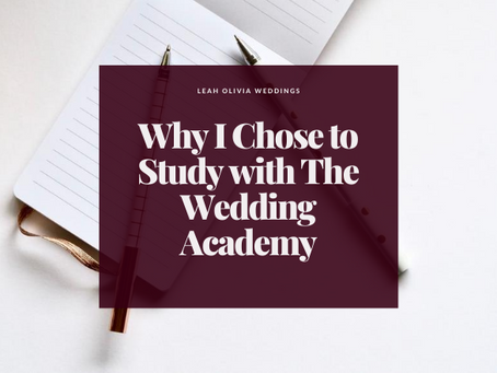 Why I Chose to Study with The Wedding Academy