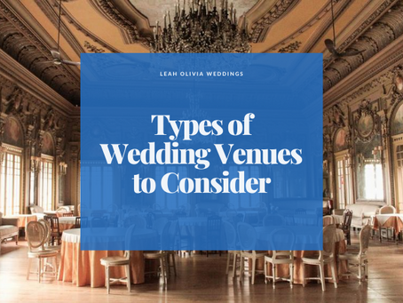Types of Wedding Venues to Consider