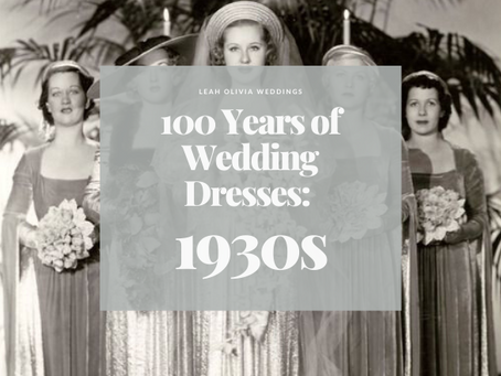 100 Years of Wedding Dresses: 1930s