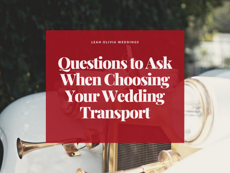 Questions to Ask When Choosing Your Wedding Transport