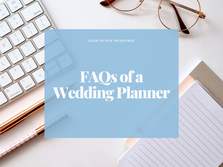 FAQs of a Wedding Planner
