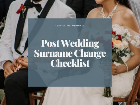 Post Wedding Surname Change Checklist