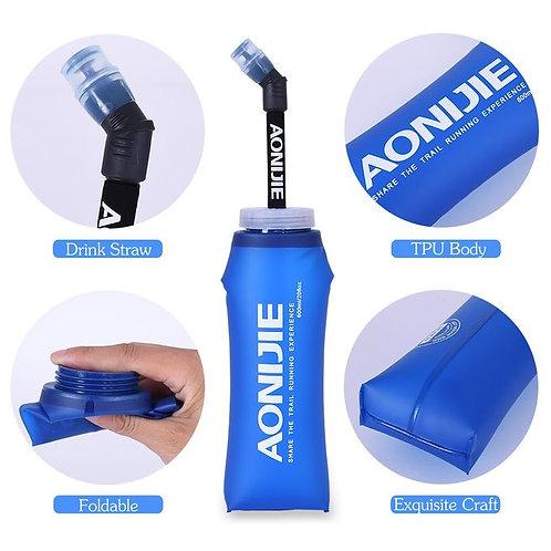 Aonijie Botella Soft Flask de 600ml con tubo