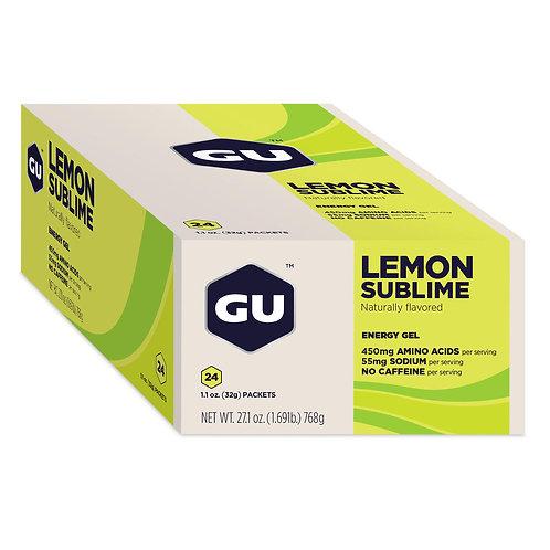 Caja GU Energy Gel Sabor Limon