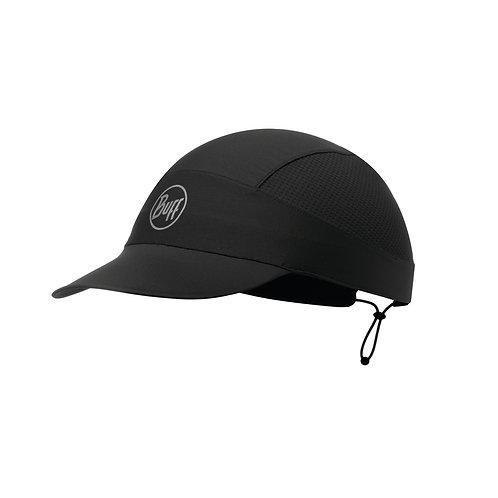 Buff Run Pack Cap Solid Black