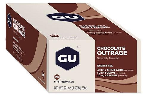 Caja de GU 24 geles Chocolate