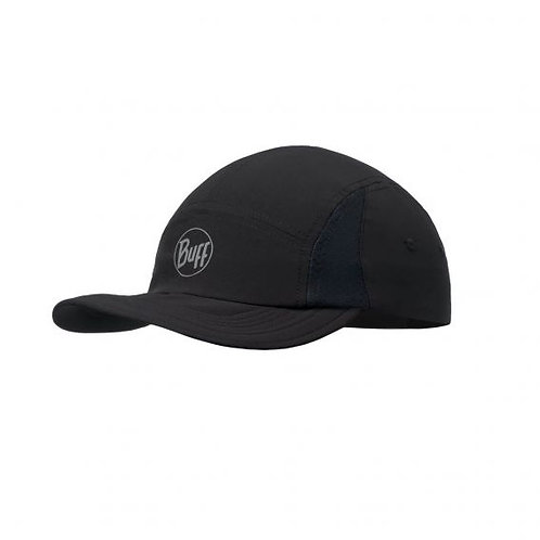 Buff Run Cap Solid Black