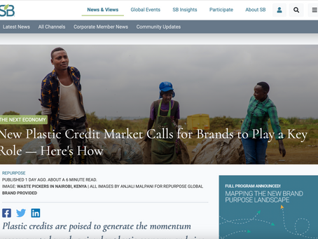 New Plastic Credit Market Calls for Brands to Play a Key Role