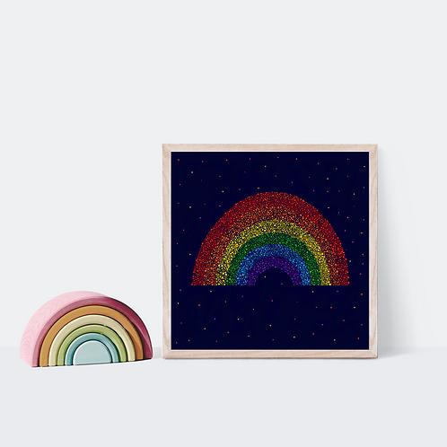 Dark Rainbow Print