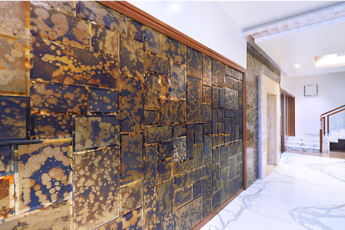 Peacock Antique Mirror Wall Cladding