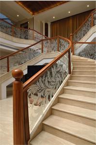 Etching Design Curved Balustrade