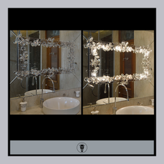 LED Rectangular Mirror - On and Off effe