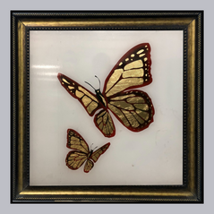 Butterfly Inspired Wall Art with Leafing