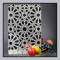 Mashrabiya Design Back Painted