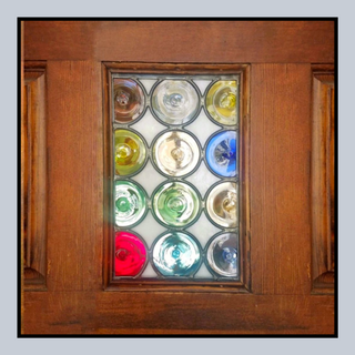 Original Stained Glass Door Panel