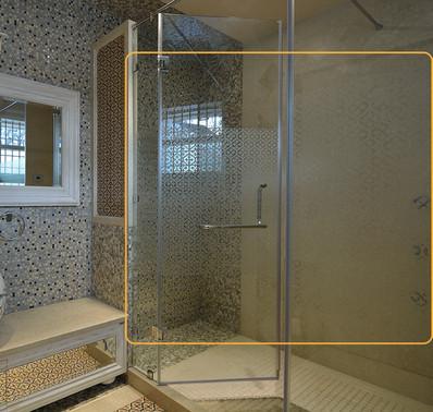 Shower Cubicle - Tile Design matched
