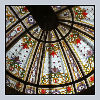Stained Glass Dome Close up