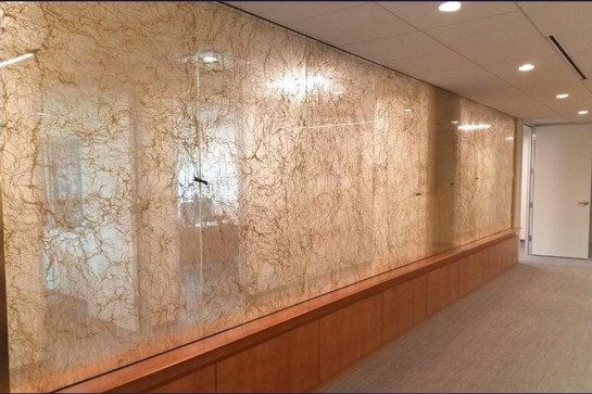 Fabric Laminated Partition