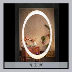 LED Rectangular Mirror with Shaving Mirr
