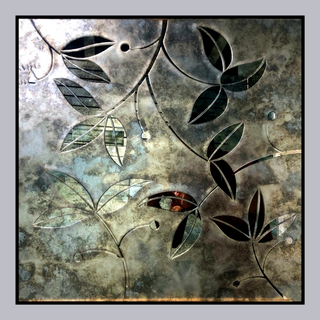 Floral Pattern on Antique Mirror
