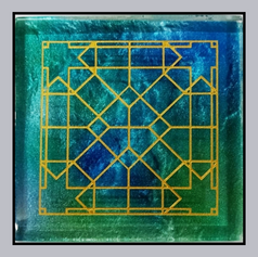Distressed Glass - Mashrabiya Design