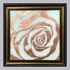 Rose Inspired Wall Art with Leafing