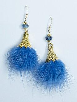 Faux Fur Pom-Pom Earrings