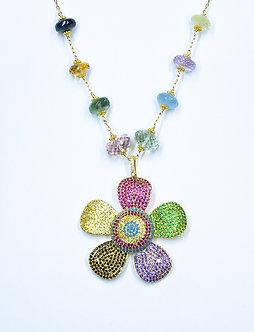 XL Multi-Color Daisy Necklace