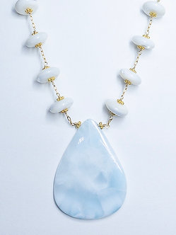 Larimar and Mother of Pearl Necklace