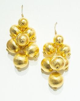 Gold Vermeil Bubble Earrings