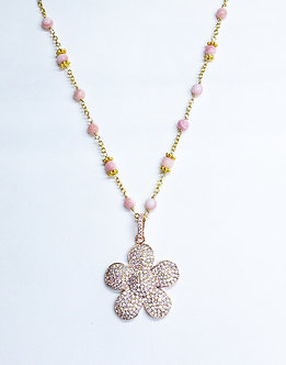 Medium Pavé Daisy Necklace
