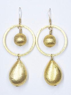 Gold Vermeil Large Hoop Earrings