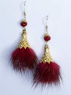 Faux Fur Pom-Pom Earrings