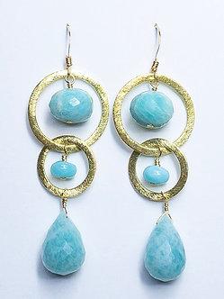 Two Hoop Medium Earrings