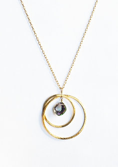 Two Hoop Necklace